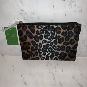 Kate Spade Pouch Lindenwood Leopard Cosmetic Bag